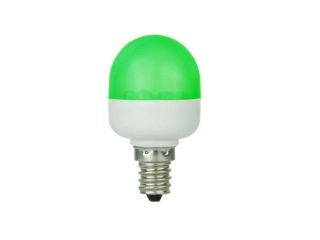 SUNLITE 0.5W 120V T10 E12 GREEN LED Light Bulb