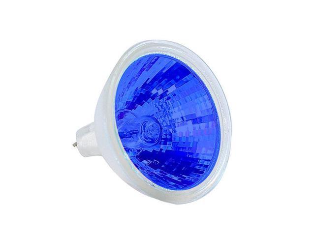 EXT/B bulb BulbAmerica MR16 50w 12v Colored in Blue G5.3 Halogen Light Bulb