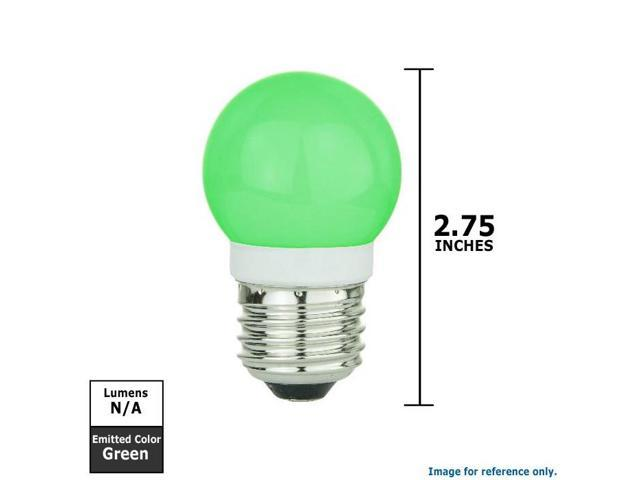 SUNLITE 1w G13 19 LED, Green Medium Base Bulb