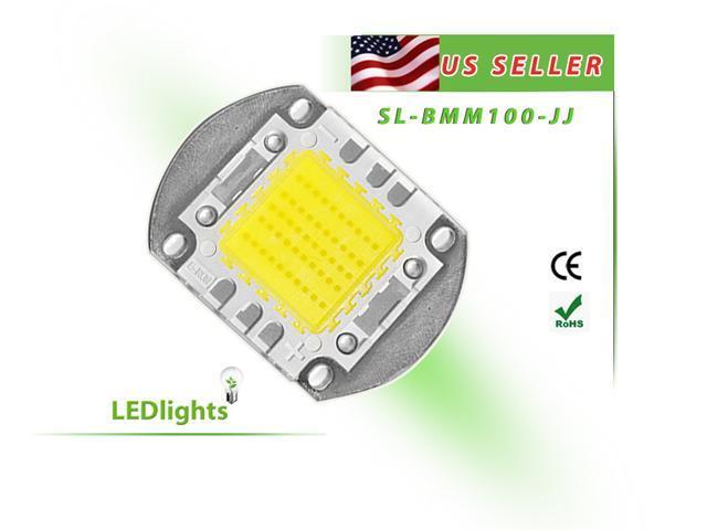 LED Light 100W Warm White 3000K High Power Component Chip 100 Watt 8000 LM USA