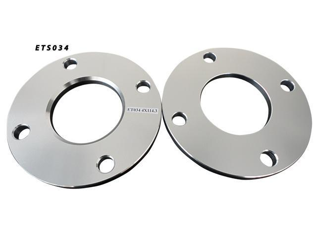4x114.3 66.2 10mm Aluminum Wheel Spacers Adapter Pair (ETS034)