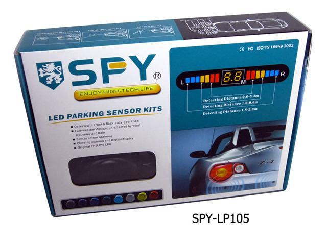 SPY Premium Black Wireless Car parking sensor 4 Sensors Backup Radar System OEM