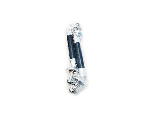 Black Carbon Front Lip Bumper Struts Shock Rod Bar Aluminum
