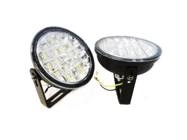 18 LED DRL LED Fog Lights Off Road Lights Day Time Running (Blue BR-202-B)