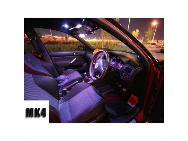 VW MK4 Golf Jetta 12pc WHITE LED Interior Kit