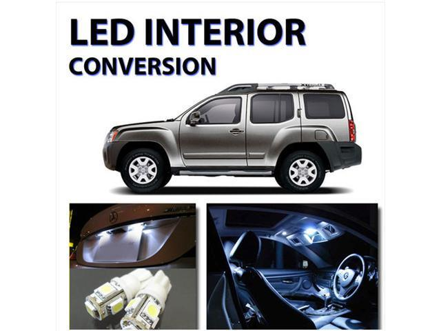 Bright white 8pc led interior lights package kit for nissan xterra 2005 2012 for Nissan xterra interior accessories