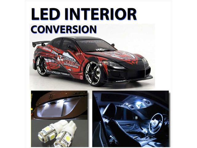 Bright WHITE LED Lights Interior 7pc Kit for Mazda RX8  2003-2008