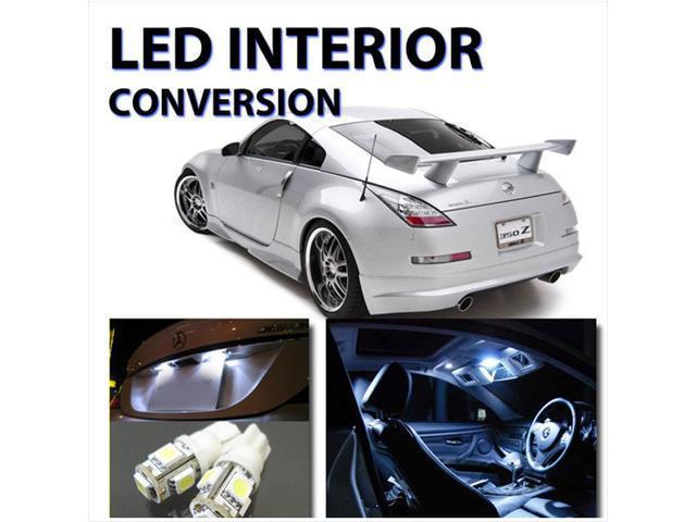 Nissan 350Z 2003-2008 High Performance LED Interior Kit WHITE HID Color 8pcs