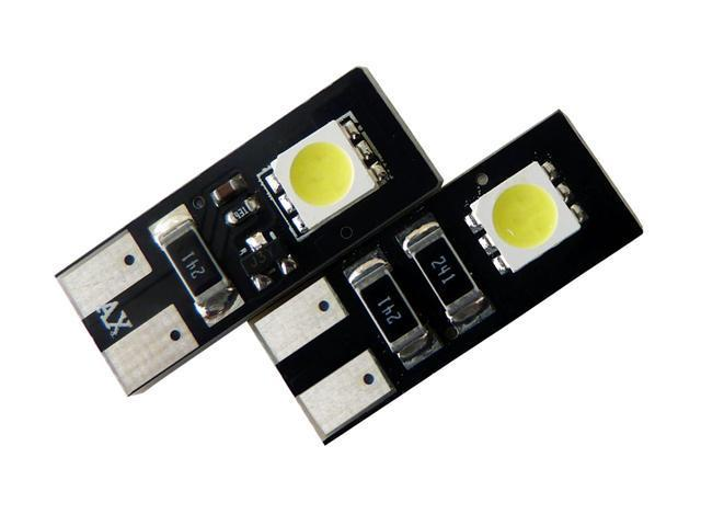 2SMD CANBUS Error Free AGT Car Interior LED Bulbs 194 168 2825 (Pack of 2)