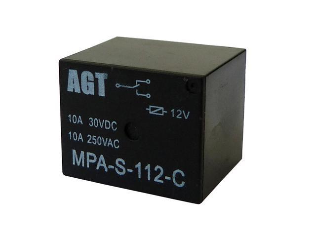 AGT (Pack of 10) DC12V SL C 10A 250V 125V AC 10A 30V 28V 12V DC 5Pin Power Relay - OEM