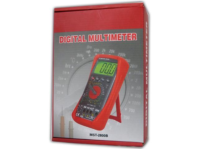 Genssi Professional Multimeter Volt Meter AC DC R C F Temp Tach Test Tool