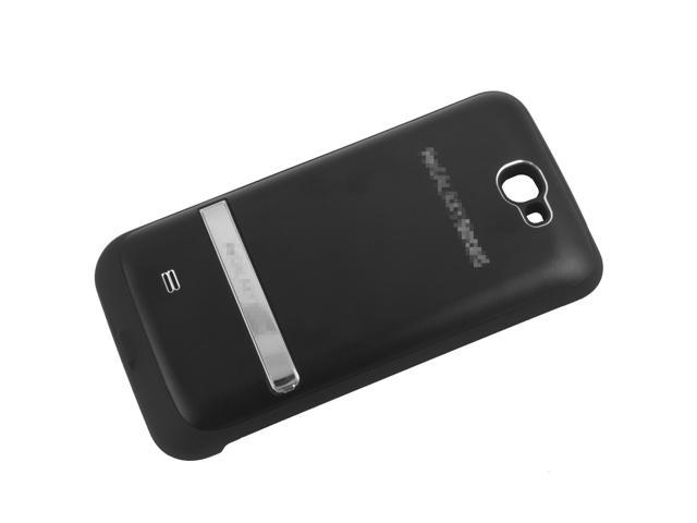 4200mAh External Power Backup Battery Case Stand For Samsung Galaxy Note 2 II Bk