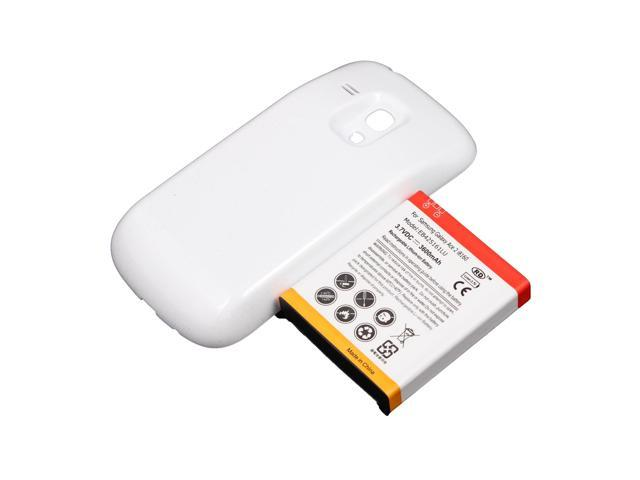 3600mah Extended Battery + Cover For Samsung Galaxy S 3 III S3 Mini i8190 White