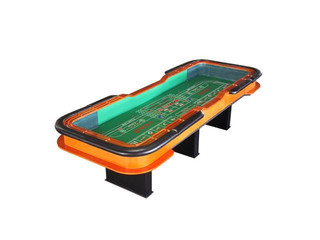 12 foot deluxe craps dice table with diamond rubber green for 12 foot craps table for sale