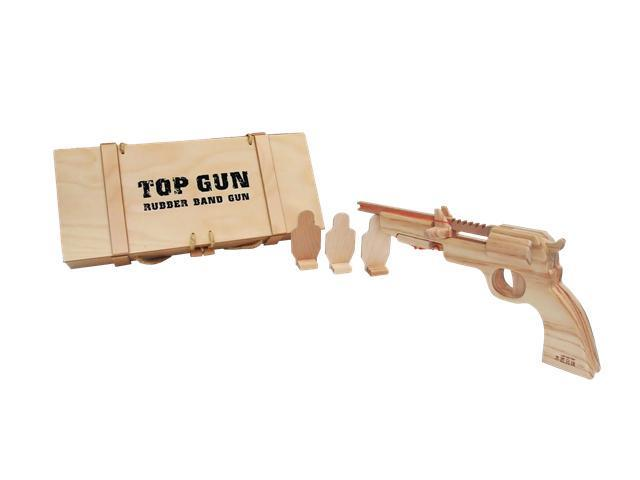 "Wooden Rubber Band Gun - ""Top Gun"""