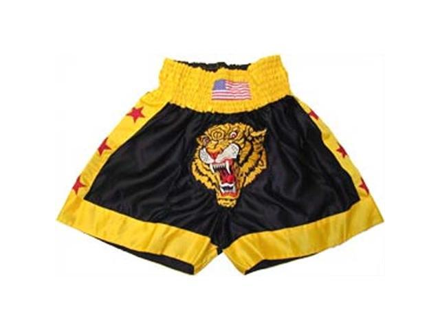 Embriodered Tiger Short In Silk Satin, Small