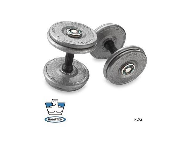 85  LB   Gray Pro-Style Dumbbells with urethane Snug-Grip handles