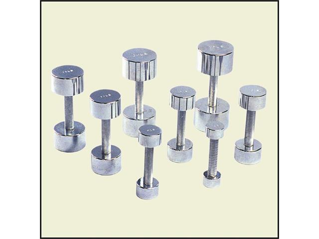 Economy Chrome Dumbbell-Solid Steel, 3 lb