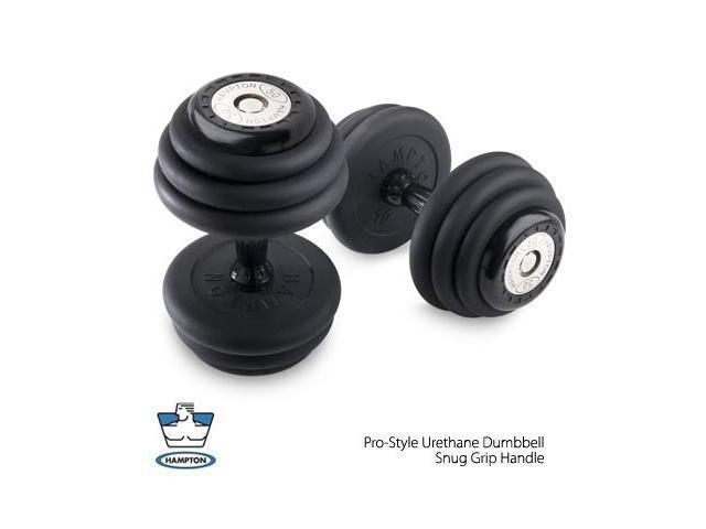 90 lb  Pro-Style Urethane Dumbbells with urethane Snug Grip handles