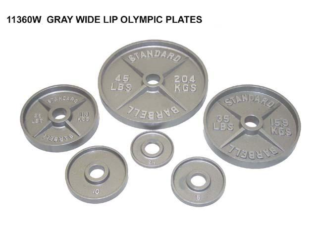 2 inches Gray Wide Lip Olympic Plates, 2.5 lb