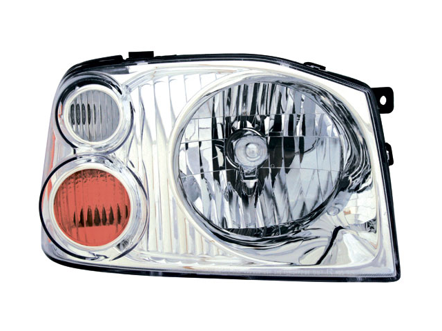 Nissan 2001-2004 Frontier Xe Headlight Assembly Aluminum Bezel Pair