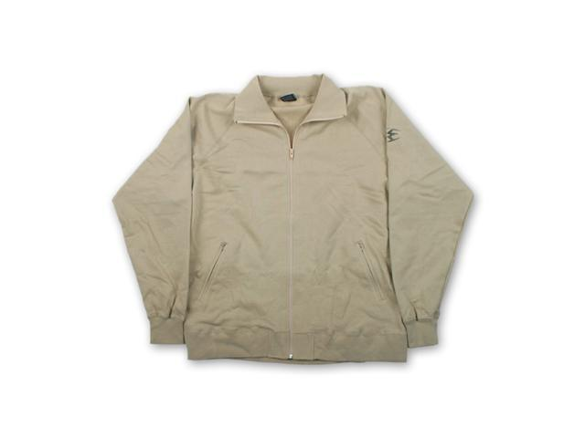 NEW! Empire Casual Paintball Zip Up Jacket KHAKI beige Mens Large zipper sweater