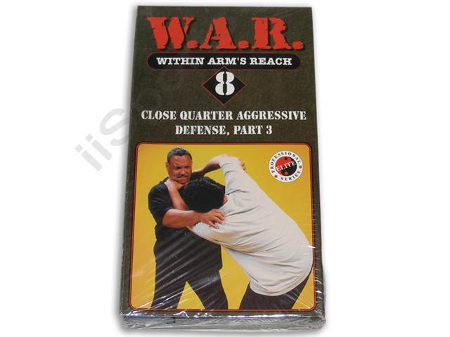 W.A.R. Within Arm's Reach 8 Close Quarter Defense 3 VHS Cliff Stewart STEW08 executive bodyguard training