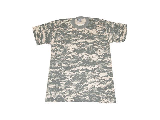 PCS ACU Digital Camouflage Tee short sleeve cotton T-Shirt adult LARGE NEW!