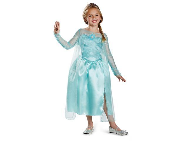 Kids Elsa Snow Queen Gown - Small