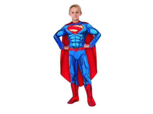 Kids Superman Muscle Suit Costume - Small