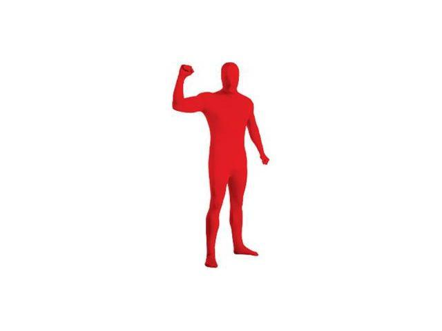 Adult 2nd Skin Red Body Suit - Large