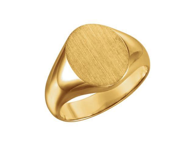 mens 10k yellow gold basic oval signet ring newegg