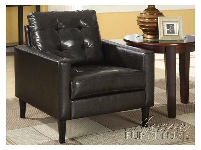 Balin Espresso PU Accent Chair ACCENT CHAIR