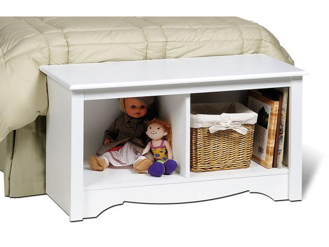 White Twin Cubbie Bench (small) By Prepac