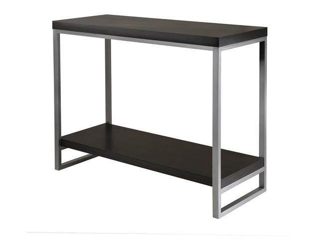 Jared Console Table, Enamel Steel Tube In Black/Metal By Winsome