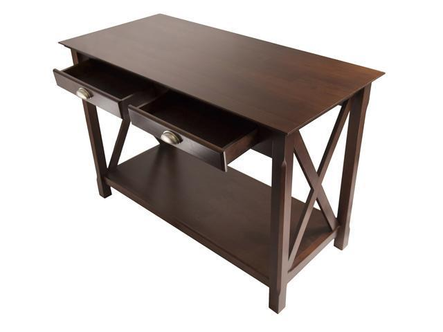 Xola Console Table with 2 Drawers In Cappucino By Winsome