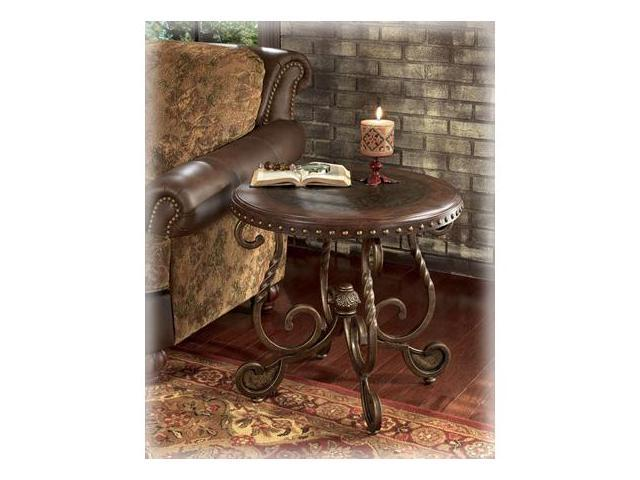 Rafferty Round End Table by Ashley Furniture