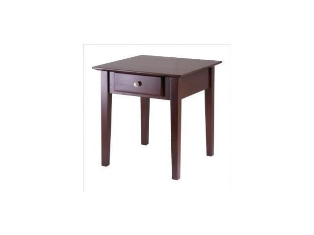 Rochester End Table With One Drawer, Shaker By Winsome Wood