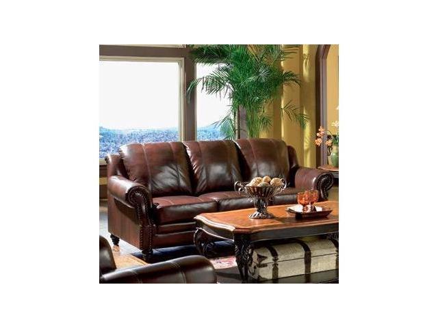 Princeton Leather Sofa by Coaster Furniture