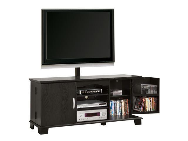 "60"" Wood TV Console with Mount and Storage - Black By Walker Edison"