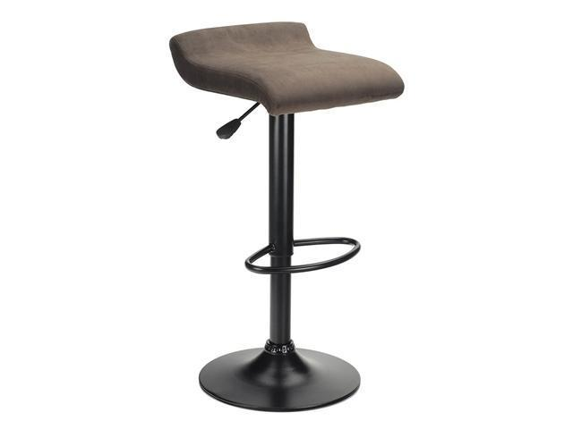 Marni Air Lift Stool, Micro Fiber Seat Top, Black And Stsain Finish By Winsome Wood
