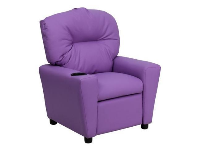 Flash Furniture Contemporary Lavender Vinyl Kids Recliner with Cup Holder [BT-7950-KID-LAV-GG]