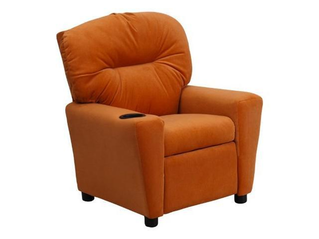 Flash Furniture Contemporary Orange Microfiber Kids Recliner with Cup Holder [BT-7950-KID-MIC-ORG-GG]