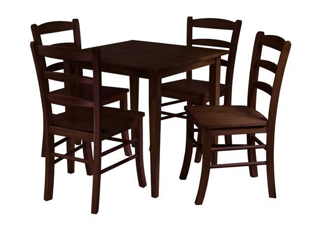 Groveland 5Pc Square Dining Table With 4 Chairs By Winsome Wood