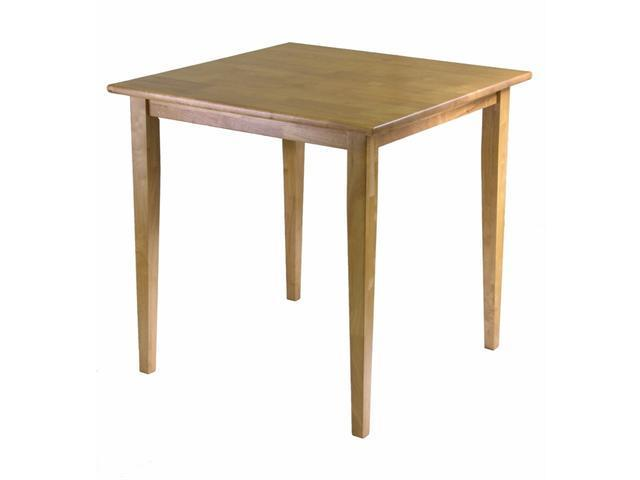 Groveland Square Dining Table, Shaker Leg, Light Oak Finish By Winsome Wood