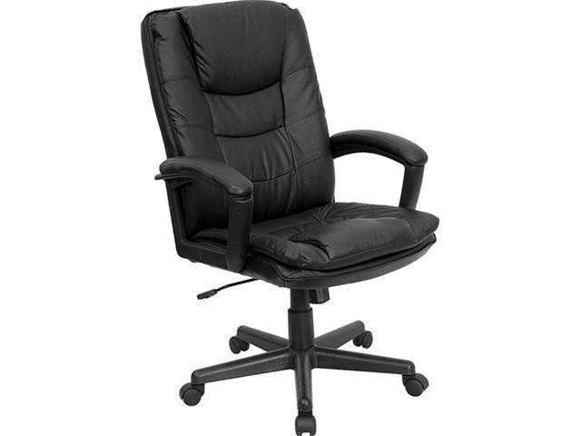 Flash Furniture High Back Black Leather Executive Swivel Office Chair [BT-2921-BK-GG]