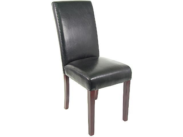 Flash Furniture Black Leather Upholstered Parsons Chair