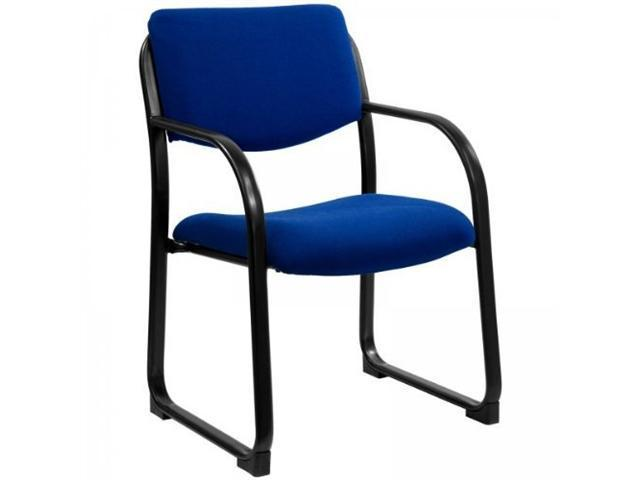 Flash Furniture Navy Fabric Executive Side Chair with Sled Base [BT-508-NVY-GG]