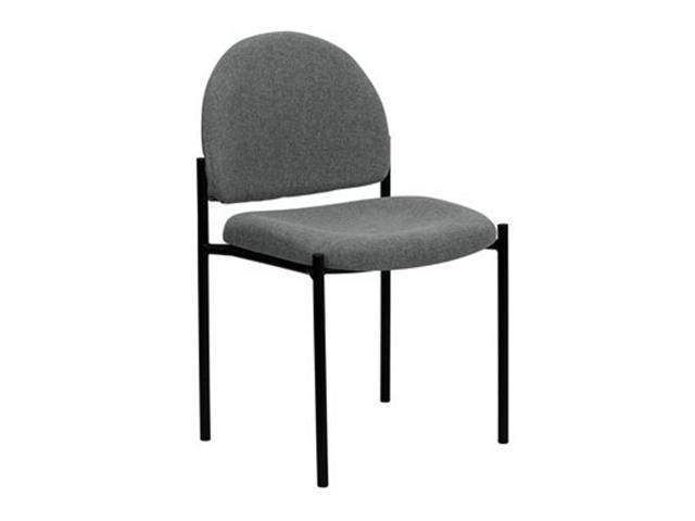 Flash Furniture Gray Fabric Comfortable Stackable Steel Side Chair [BT-515-1-GY-GG]