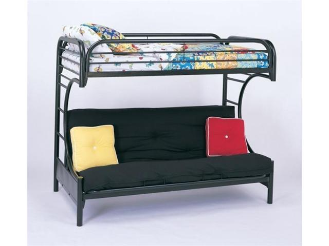 C Style Black Twin Over Full Futon Bunk Bed by Coaster Furniture